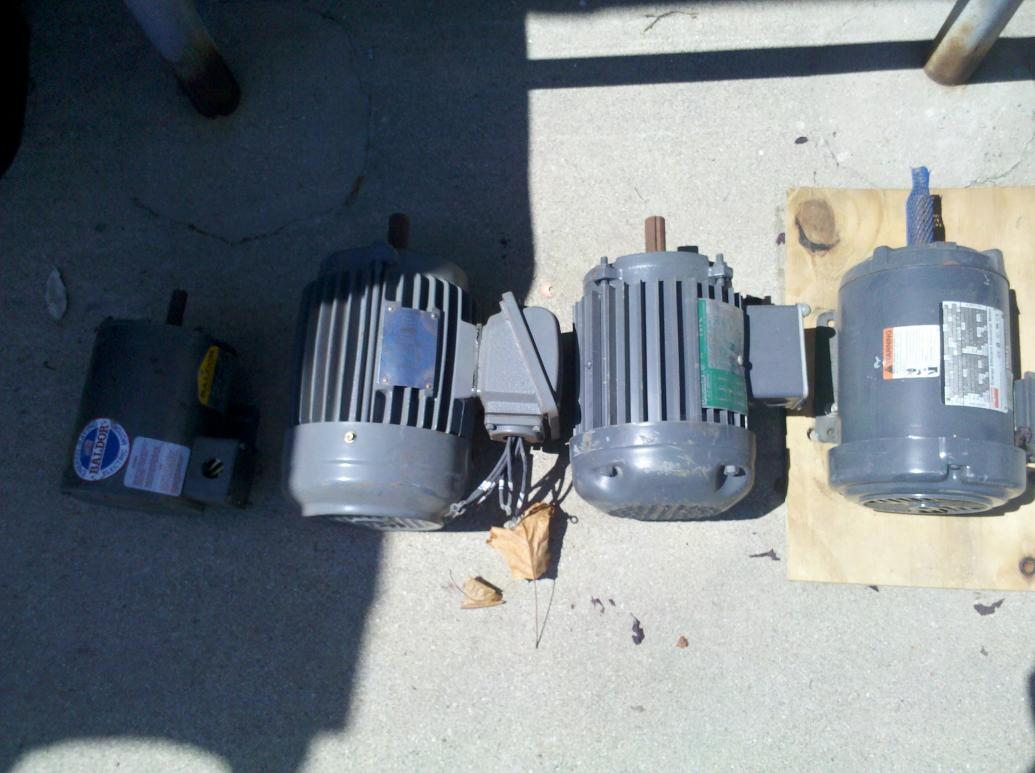 small hp 3 phase motors for sale