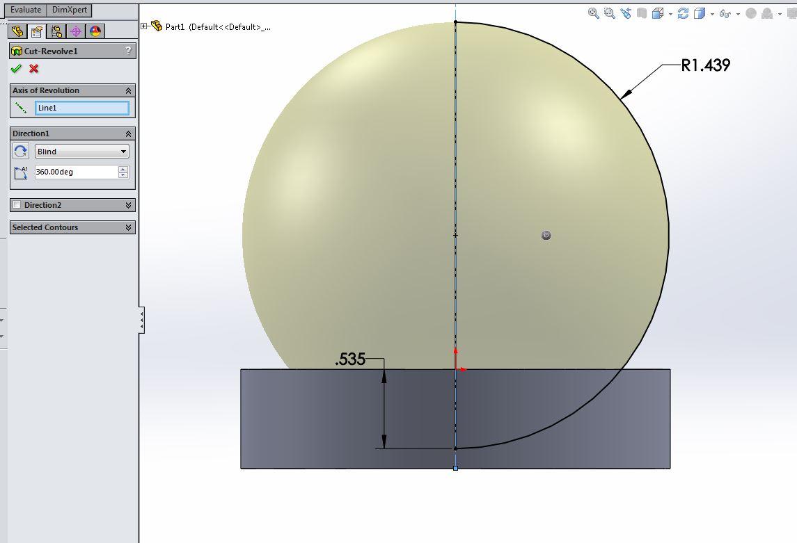 Spherical Radius Help