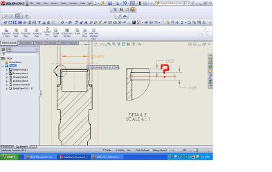 Solidworks 2012 dimension in detail view?