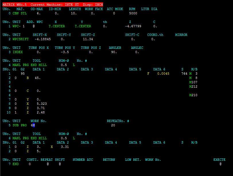 Integrex i400 Subprogram difficulties