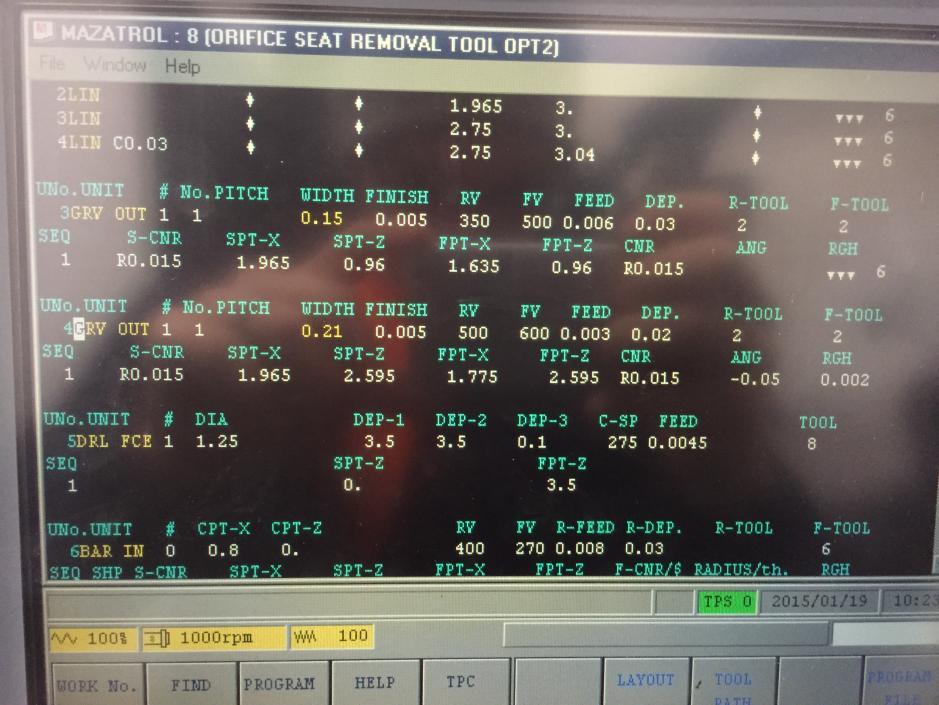 Mazatrol programmering