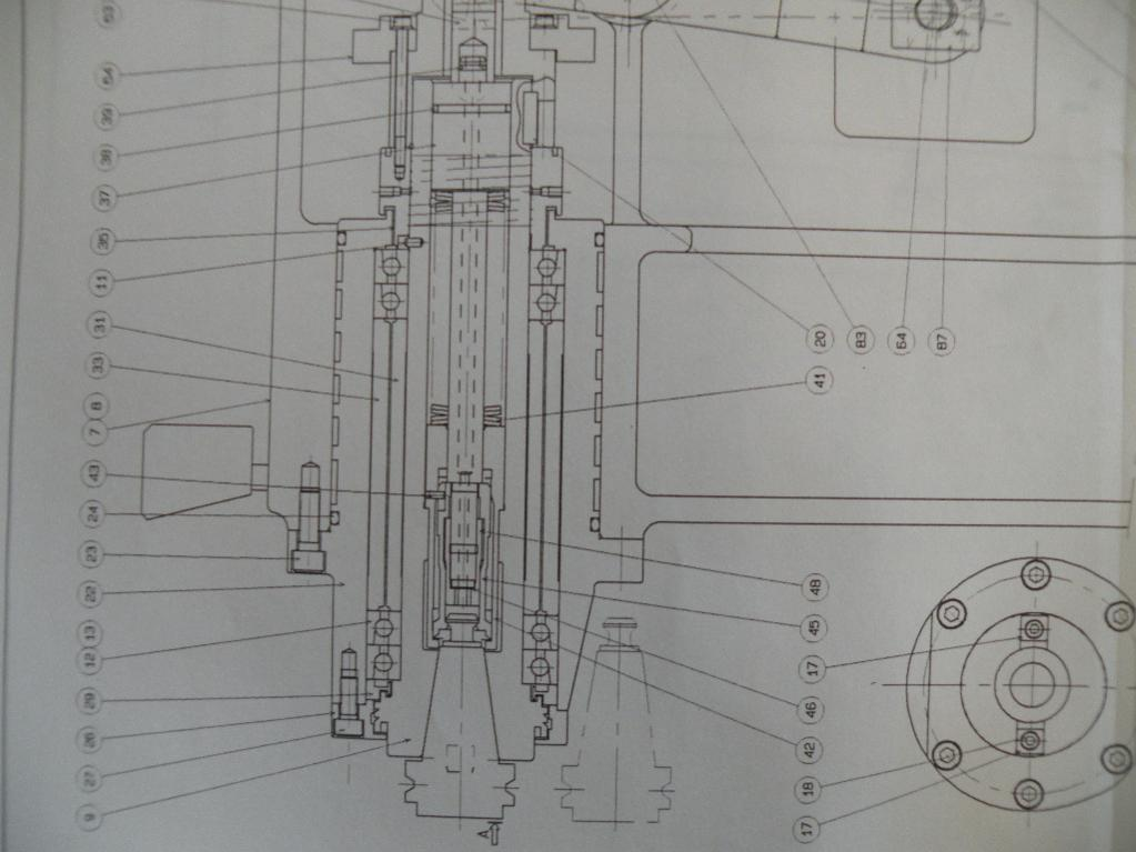 Bearing puller assembly drawing : Vtc spindle work