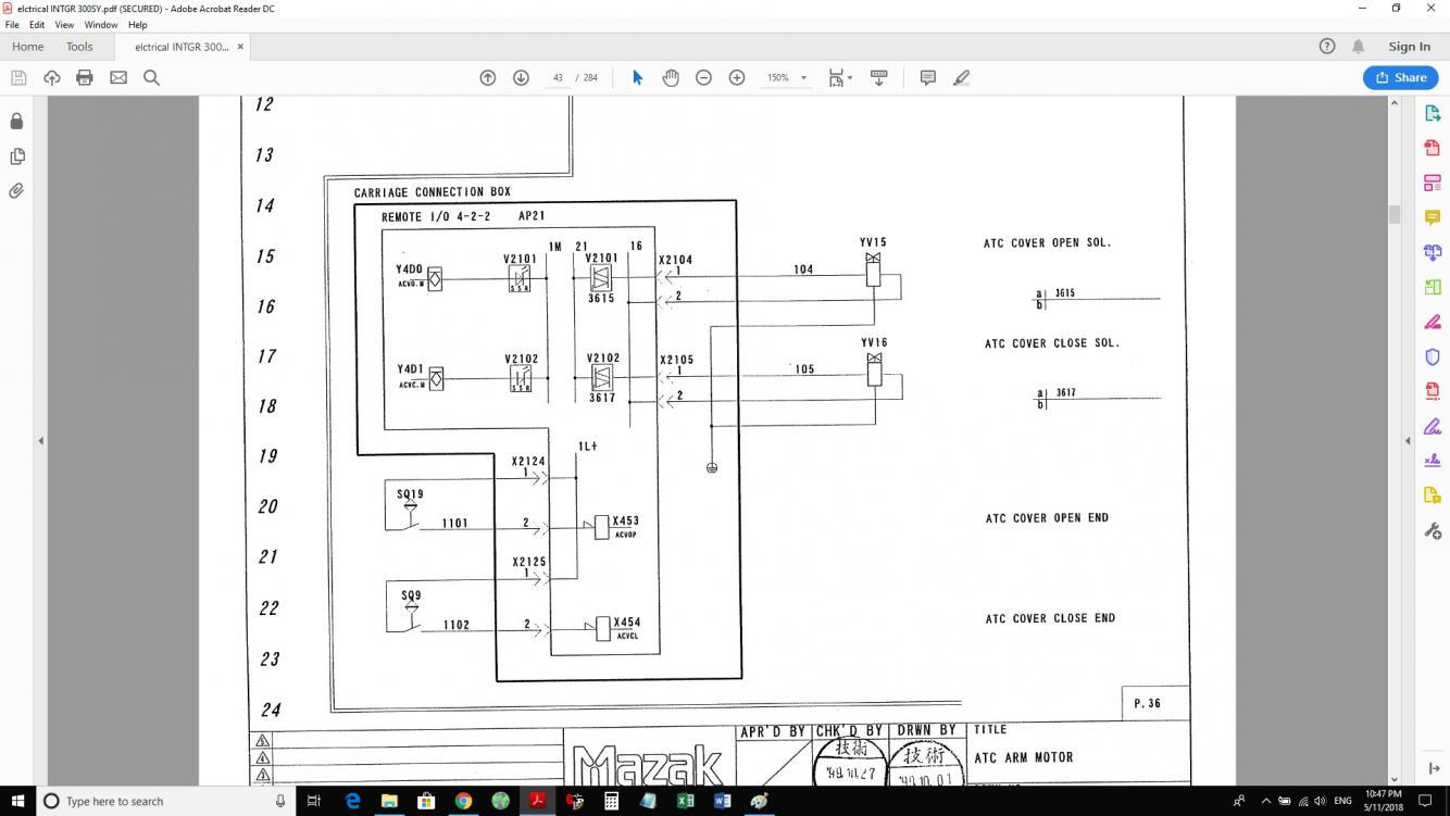 mazak integrex 640mt atc door wont close