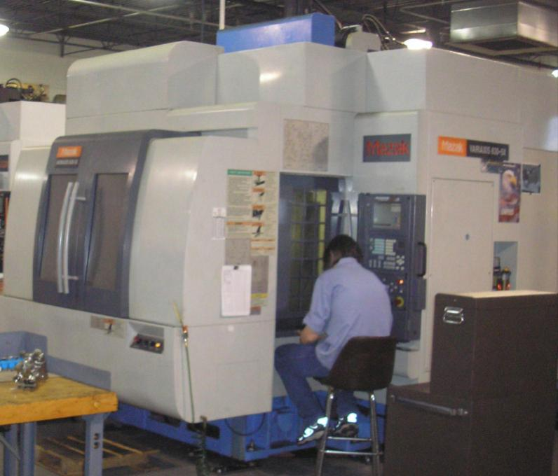 Used Vari-axis from Premier Equipt  , Spindle fractures