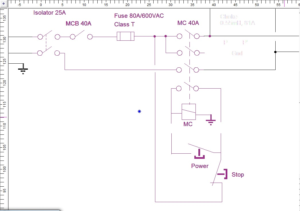 how to wire start stop to main contactor ?? Power Stop Wiring attachment 137053