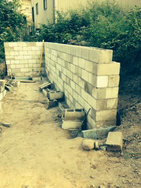 OT backfilling retaining wall