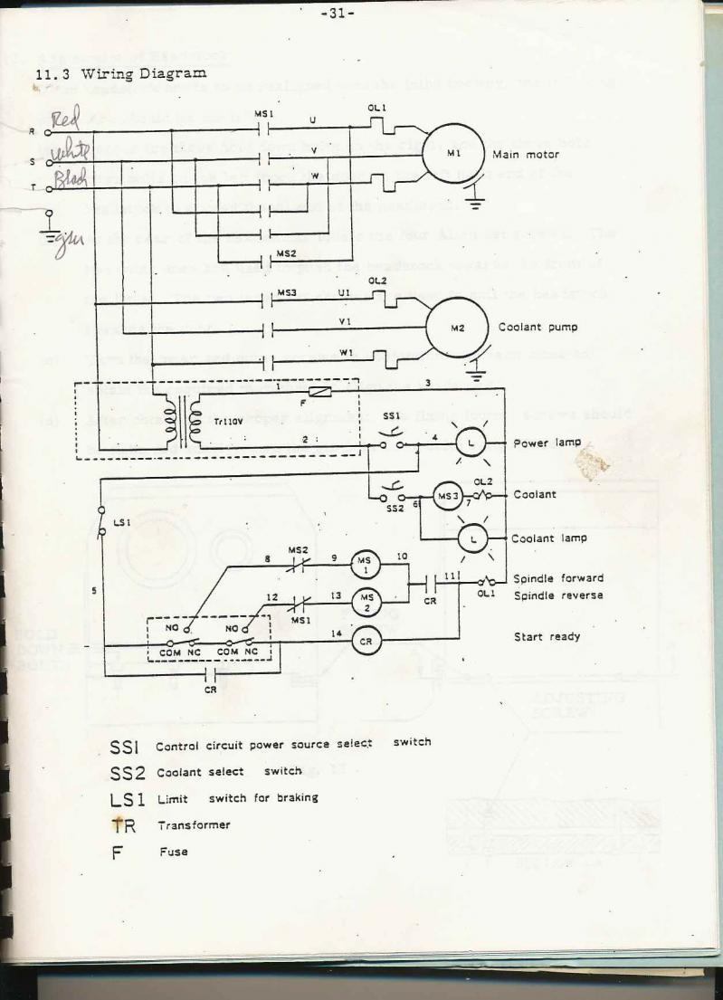 cadillac lathe rh practicalmachinist com Electric Motor Wiring Diagram 120V Electrical Switch Wiring Diagrams