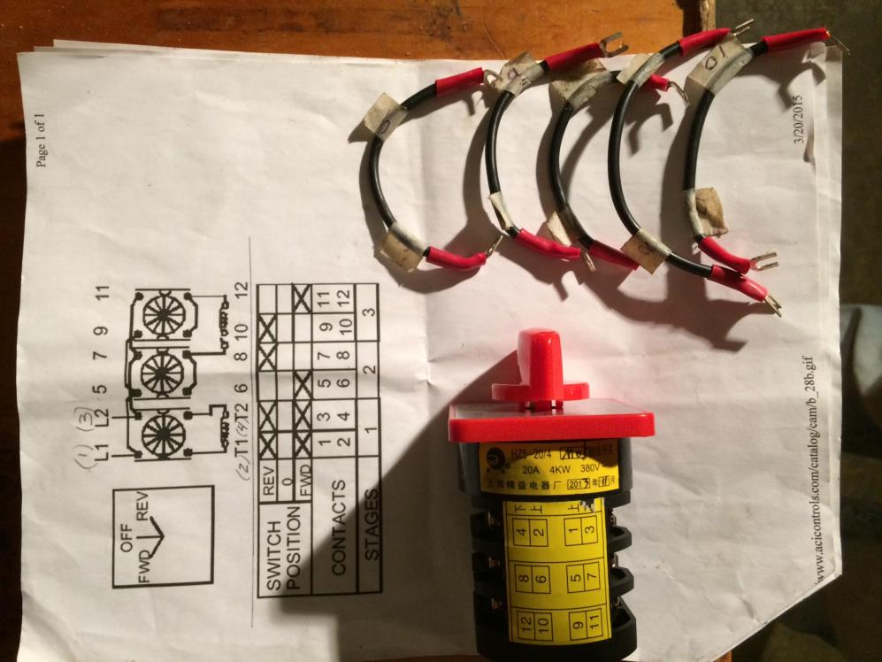 Wiring Rotary Cam Switch