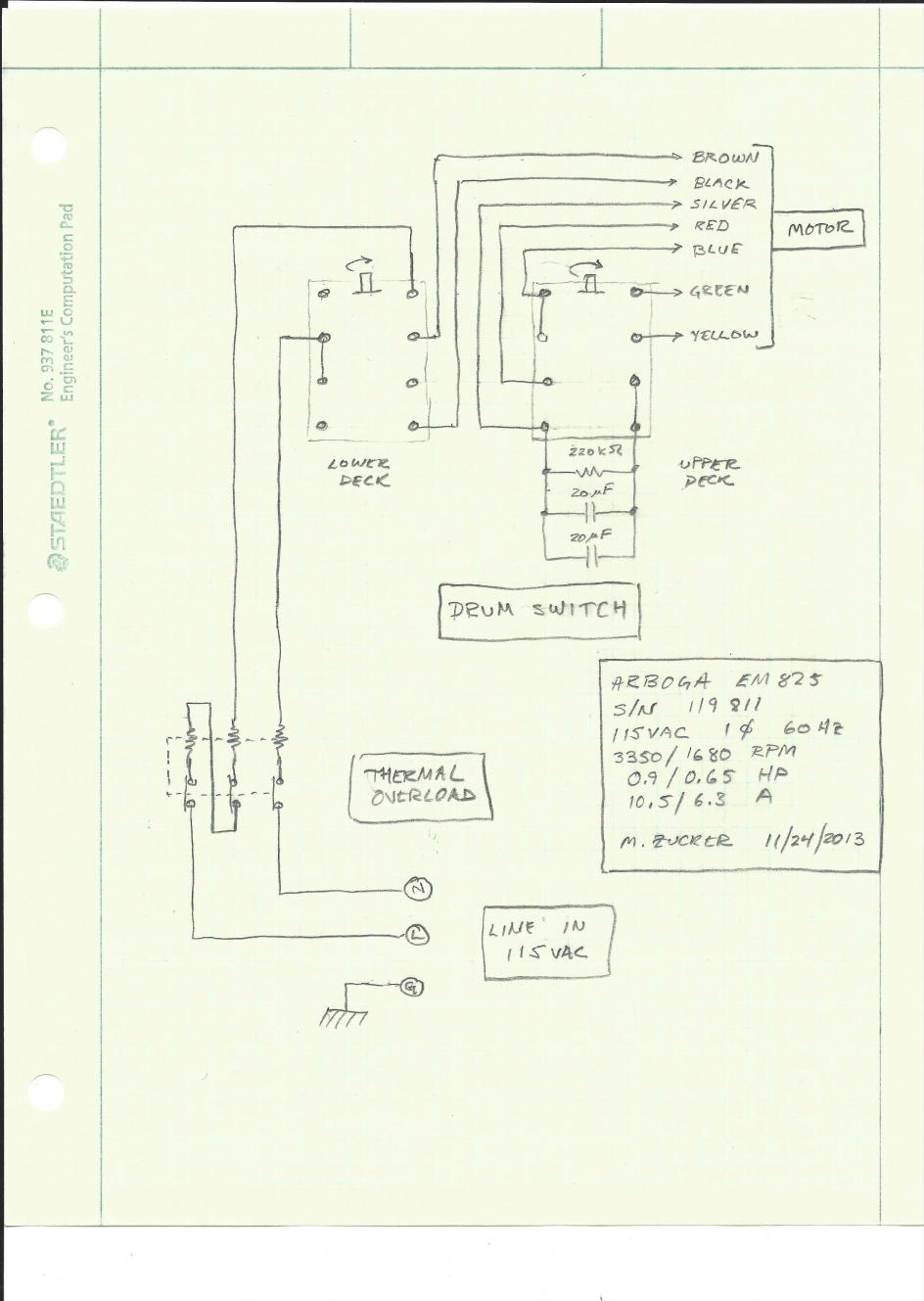 Looking For Arboga E825 1ph 220 Wiring Diagram Em825 Sn119811 115v