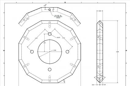 12 sided polygon w o cnc or rotary table