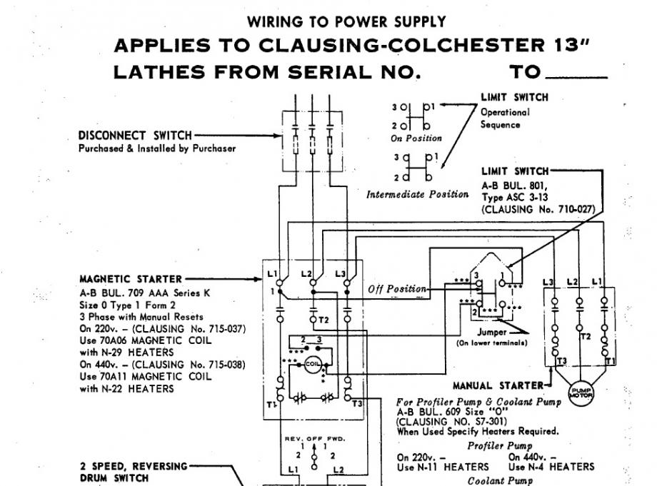 monarch lathe wiring diagram clausing coolent pump wiring dental lathe wiring diagram 2 speed #11