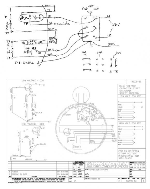 Electric Motor Wiring Diagram 1 3 Hp