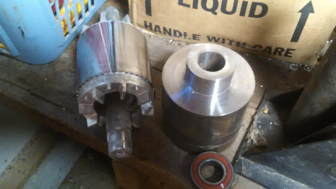 Repairing Induction Motor Rotor Shaft