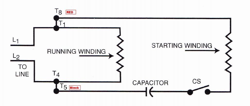 split phase motor troubleshooting