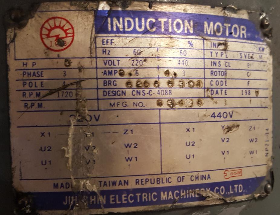 changing motor wiring from 440 to 220 rh practicalmachinist com 110 220 Motor Wiring Diagram 220 Single Phase Motor Wiring