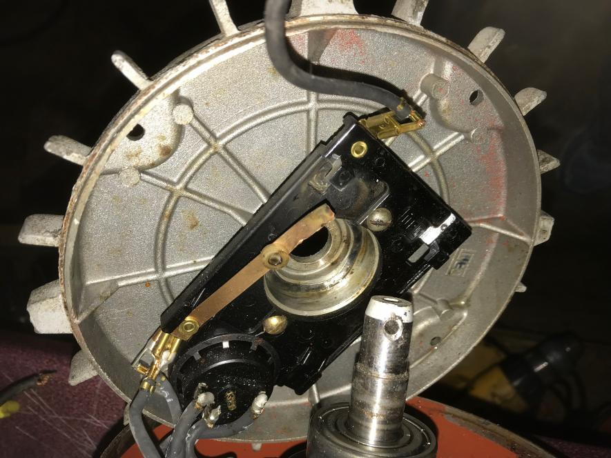 Weg f56h 2hp induction motor centrifugal switch repair for Electric motor centrifugal switch replacement