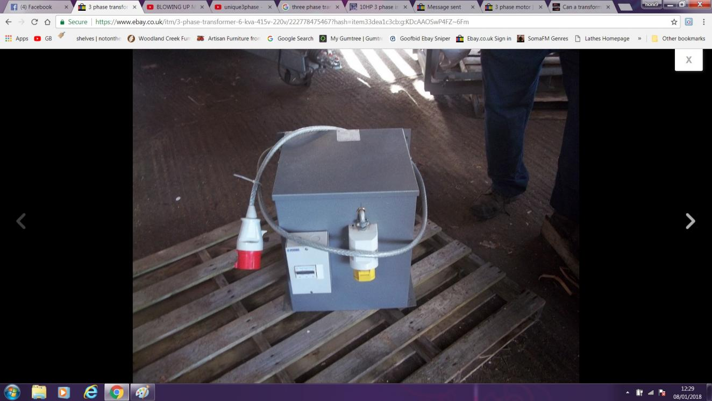 Step up transformer build 240v to 415v 3 phase reverse feeding a tr2g ccuart Images