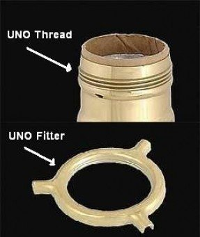 Looking For Specifications Of The Uno Thread Used On Lamp