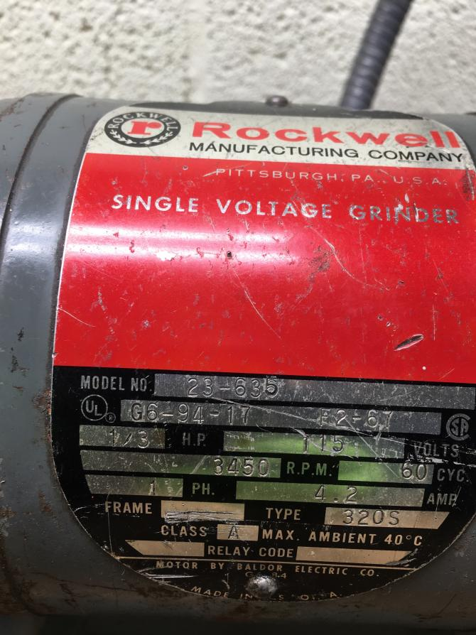 Rockwell 23 635 Bench Grinder Wheel Guard Broken Baldor