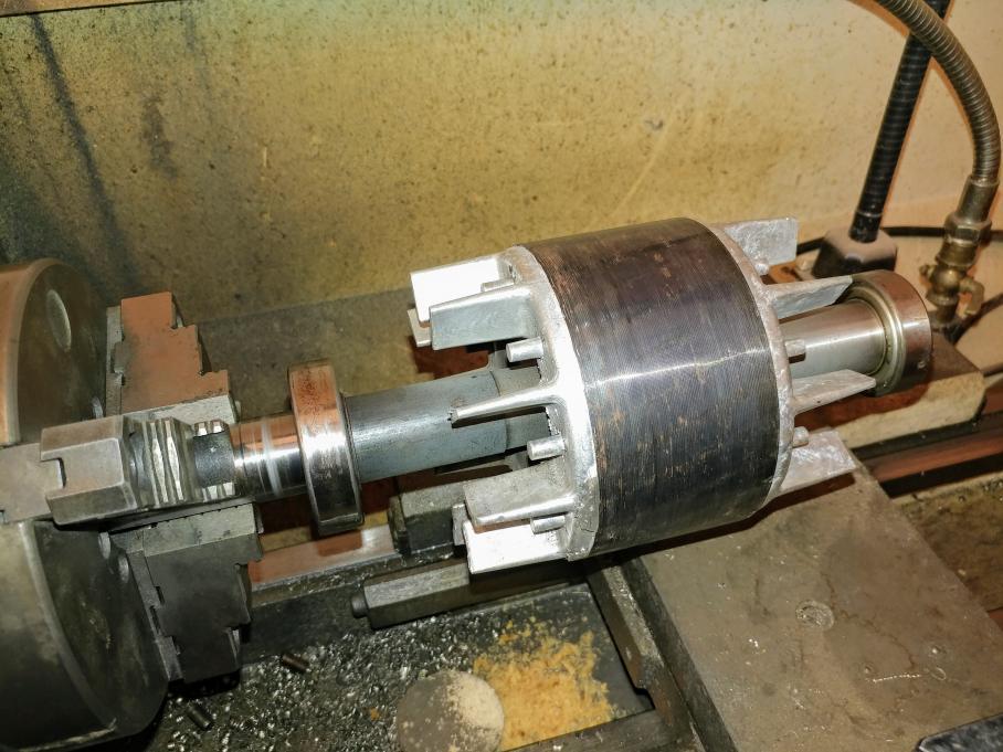 Cyclone ou filtre pour un poste de ponçage - Page 3 263361d1566086905-ac-3ph-3hp-motor-rotor-shaft-replacement-20190817_172721-2