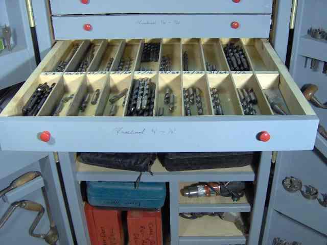 drill bit storage cabinet