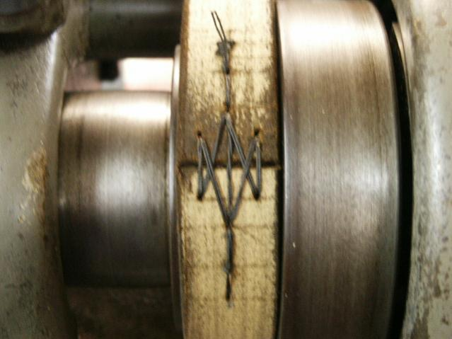 lacing a flat drive belt page 2