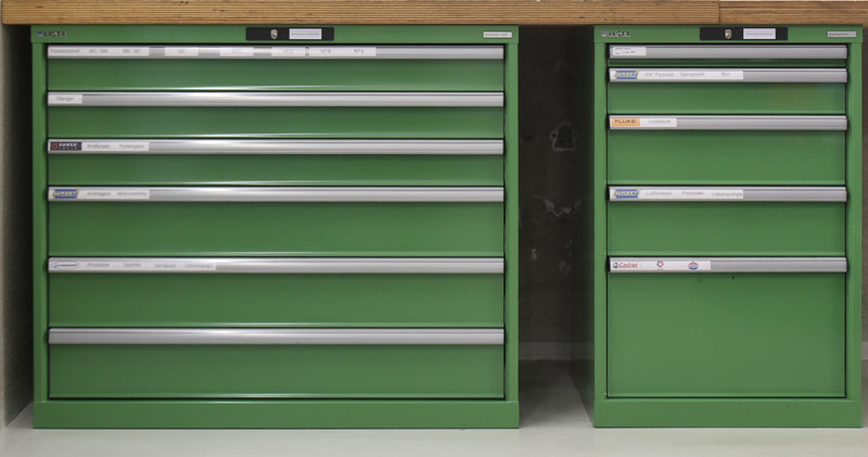 Differences between lista's mobile cabinets and toolboxes