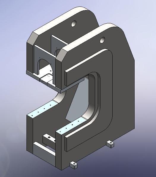 C frame Press design