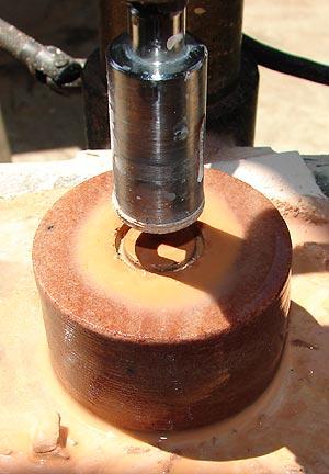 Enlarging Hole In Grinding Wheel