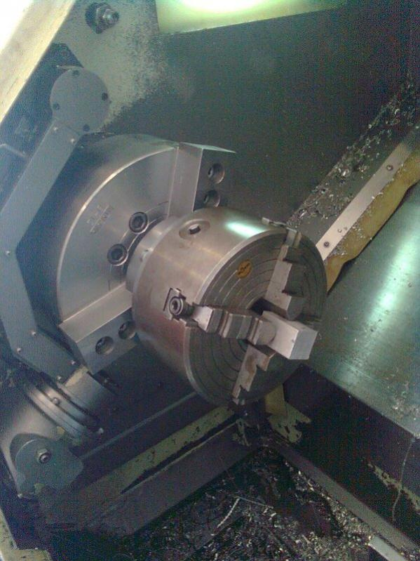 Mounting A 4 Jaw In A 3 Jaw Chuck On A Lathe