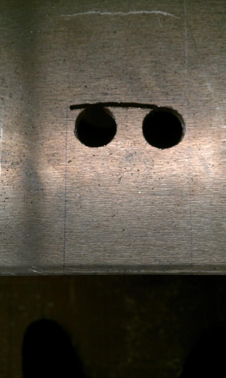Cutting Rectangular Notches In Aluminum Plate Without Cnc