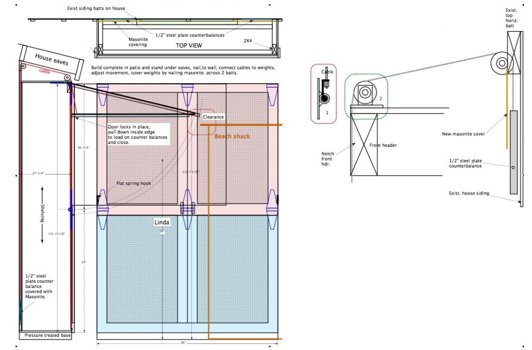 Looking for design advice on horizontal hinge bifold garage doors ...