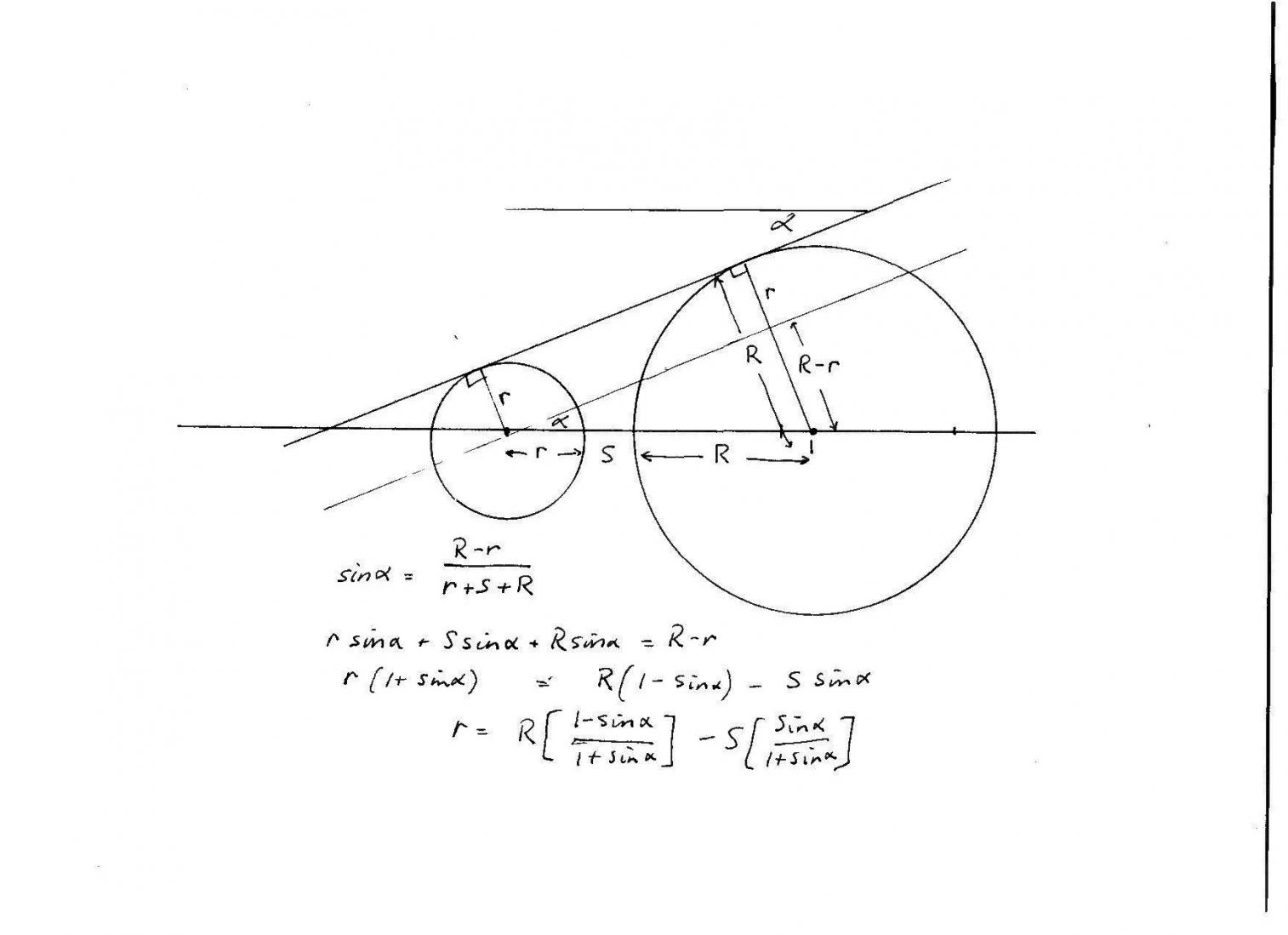 Trig solution to tapering hole diameter problem nice work dgfoster heres another solution i suspect its equivalent to yours pooptronica Choice Image