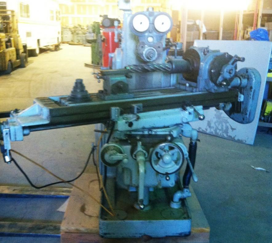 Kearney And Trecker Milwaukee 2hl Plain Horizontal Mill