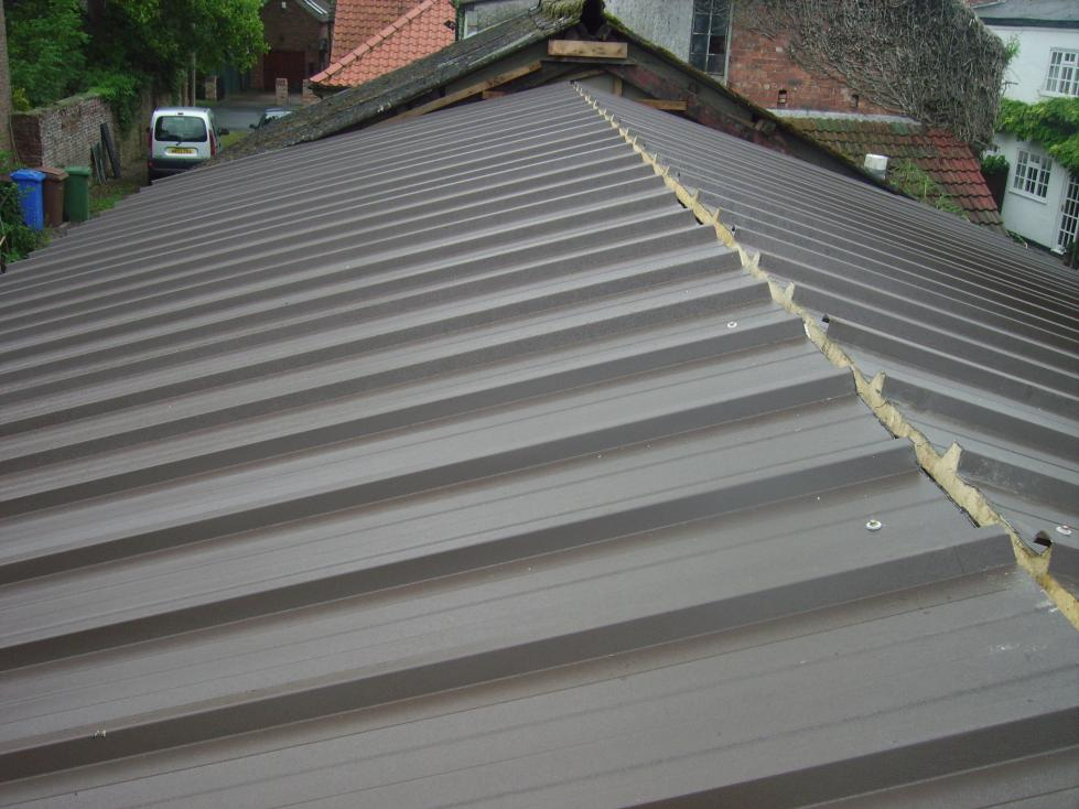 Insulated Roof Panels : Insulated steel panels for shop roof and walls