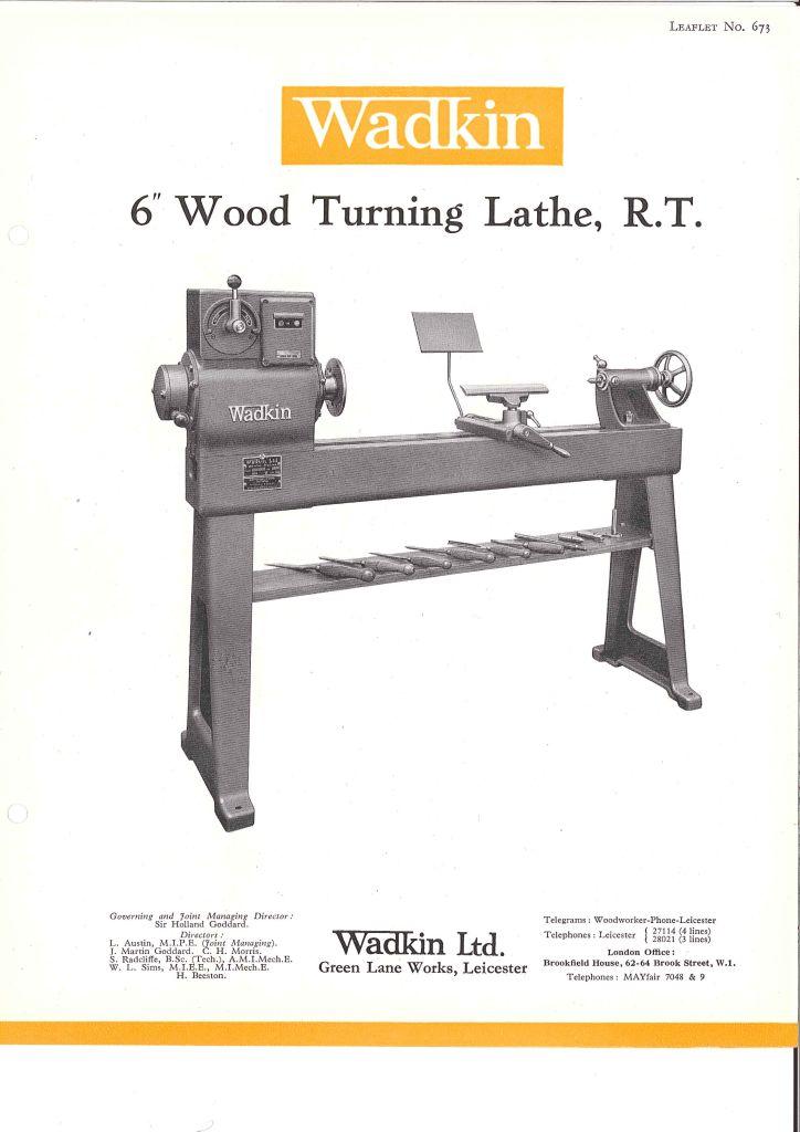 Wadkin Ltd. Green Lane Works, Leiceter