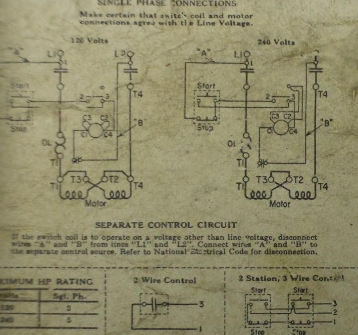 Ge Motor Starter Wiring Diagram Wiring Data