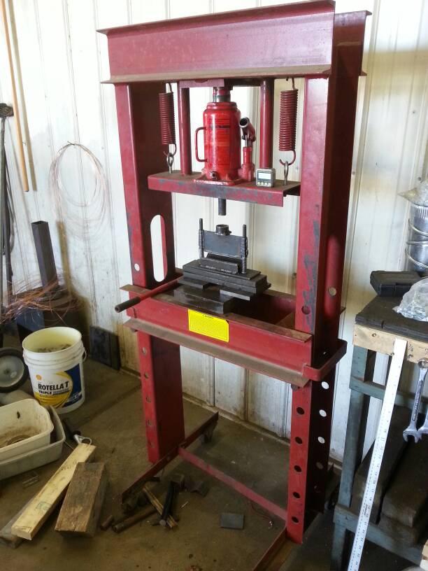 how to make a shop press
