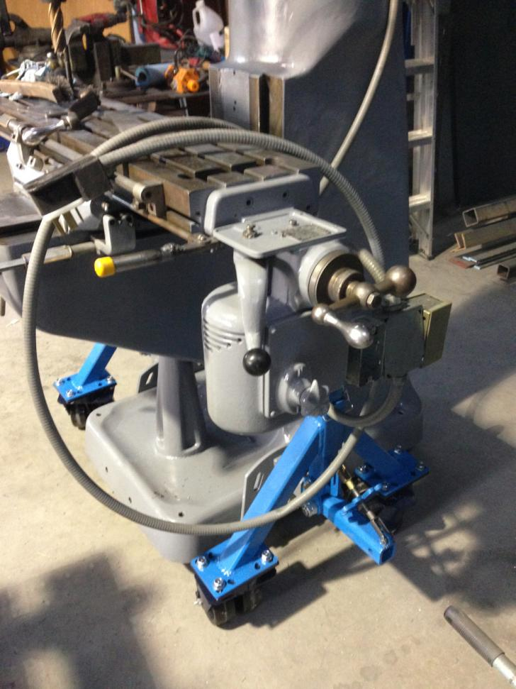Modified Pallet Jack For Moving Bridgeport Style Milling