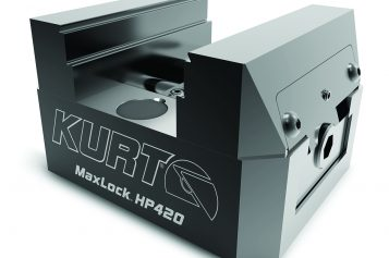 Kurt Introduces Self-Centering MaxLock™ HP420 5-Axis Vises – Available In 5, 7 And 9-Inch Models
